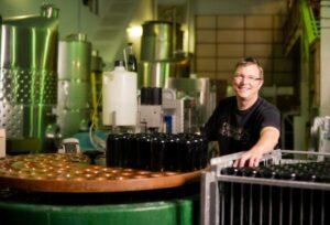 Summerhill Pyramid Winery winemaker Eric von Krosigk in action  Credit Kevin Trowbridge.
